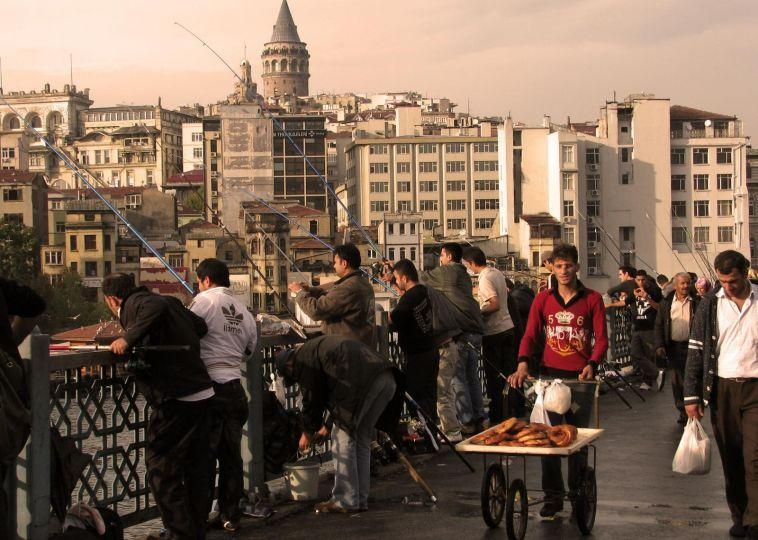 Fishing at the Galata Bridge